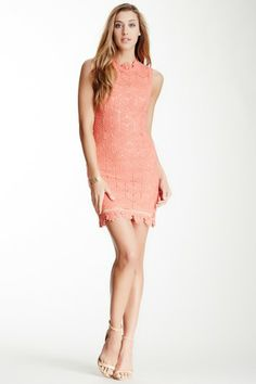 Gracia Crochet Mock Neck Dress on HauteLook