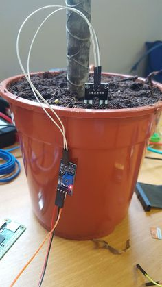 Raspberry Pi Plant Pot Moisture Sensor with Email Notificati.- Raspberry Pi Plant Pot Moisture Sensor with Email Notification Tutorial ModMyPi LTD Linux, Arduino Programming, Cool Electronics, Electronics Projects, Potted Plants, Indoor Plants, Projetos Raspberry Pi, Raspberry Projects, Rasberry Pi
