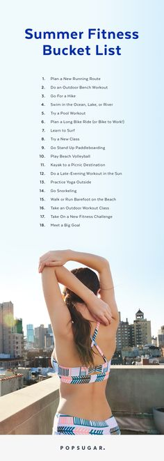 These fit Summer bucket list ideas will make your season healthier than ever! Get ready to get active with your BFF or by yourself with this epic challenge and so many free activities!