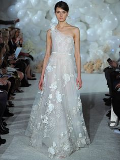 """Mira Zwillinger Spring 2018: Dreamy, """"Over the Rainbow""""–Inspired Wedding Dresses    TheKnot.com"""