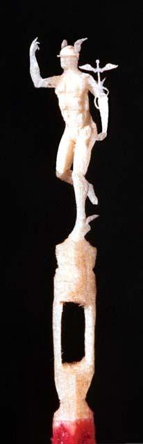 Eclectix Arts: Carved Matchstick Sculptures - Mercurio by Christian Hernandez
