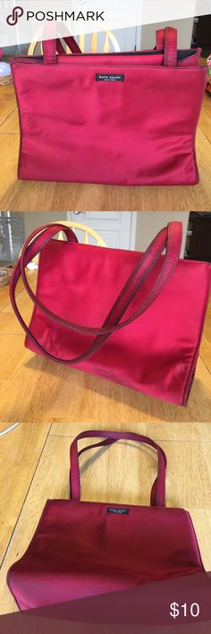 Kate Spade wine colored bag Slightly worn, a few dirt spots, but very usable kate spade Bags