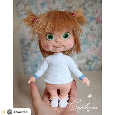 Amigurumi Patterns Crochet Toy Irinka and Masha PDF files by Amigurumi Toys, Amigurumi Patterns, Doll Patterns, Crochet Doll Pattern, Crochet Toys, Crochet Patterns, Masha Doll, Boucle Yarn, Baby Gift Box