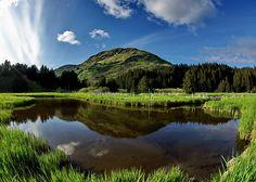 Monashka Mountain and creek - Kodiak, Alaska Beautiful World, Beautiful Places, Kodiak Alaska, Kodiak Island, Gulliver's Travels, Sea To Shining Sea, Alaska Travel, Vacation Spots, Beautiful Landscapes