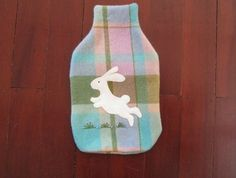 "Hotwater Bottle Cover "" Happy Rabbit"""