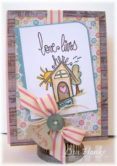 stamp of the week from unity stamp company - {love lives here} - drawn by unity artista and design team member angie blom - card created by unity design team member lisa henke