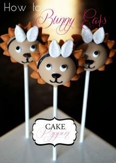 "Pint Sized Baker: Easter ""Bunny"" Lion Cake Pops from Cake Poppin"