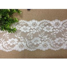 wide stretch polyester lace trim fashion garment skirt cloth material DIY accessory craft supply by 1 yard *** Continue to the item at the image link. Sewing Lace, Love Sewing, Sewing Crafts, Diy Crafts, Lace Sweatshirt, Plain Tees, Warm Coat, Sewing Stores, Diy Clothes
