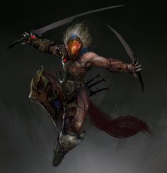 Character Concept - Slayer WIP, MuYoung Kim on ArtStation at https://www.artstation.com/artwork/character-concept-slayer