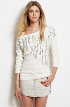 Studded Pullover - Sweaters - Womens - Armani Exchange