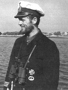 Reinhardt Hardegen, famous German (but not Nazi) U-Boat commander during WWII, having sunk 22 Allied ships. He commanded the U-147 and the U-123.
