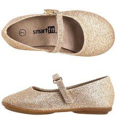 d00a8b54a0c0 Payless --- Girl s Toddler Glitter Ballet Flat flower girl shoes