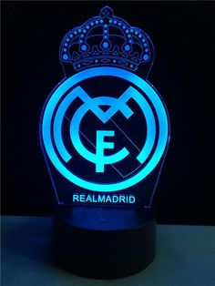 Real Madrid logo LOGO touch 3D  colorful Nightlight  lamp - 3D Optical Lamp Real Madrid Club, Real Madrid Players, Real Madrid Logo Wallpapers, Real Mardid, Ronaldo Wallpapers, Santiago Bernabeu, Logo Real, 3d Light, Logo Gallery