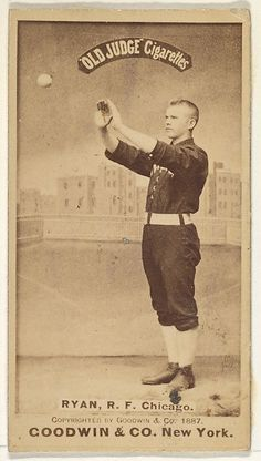 """The """"Old Judge"""" series of baseball cards (N172) was issued by Goodwin & Company from 1887 to 1890 to promote Old Judge Cigarettes."""