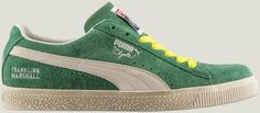 The new Puma #Clyde #sneakers restyled for Franklin & Marshall, available in jelly bean