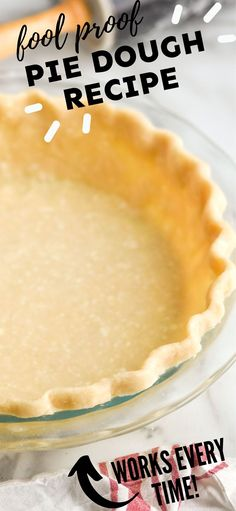 This Pie Crust Recipe is easy to make, but more importantly it tastes delicious. The combination of butter and shortening help the pie keep its shape without sacrificing any flavor. Pie Dough Recipe, Pie Crust Recipes, Holiday Recipes, Great Recipes, Fun Desserts, Dessert Recipes, Easy Pie Crust, Food Words, Baking