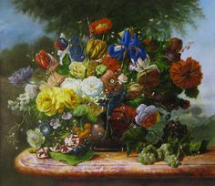 Enjoy our large collection of Gyuka Siska Original Oil Paintings. Siska's highly detailed florals are reminiscent of old master paintings. Old Master, Flower Art, Original Artwork, Around The Worlds, Floral Paintings, Fine Art, The Originals, Gallery, Blossoms