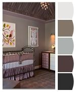 Purple and Brown - subtle colors for the living room