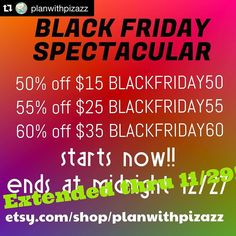 Small business saturday deals from @planwithpizazz ! #Repost @planwithpizazz  This awesome sale had been extended thru tomorrow!  yay! More time for planner goodness at a HUGE savings!!! #plannerjunkie #planwithpizazz #pwppr  #planneraddiction #plannercommunity #plannerstickers