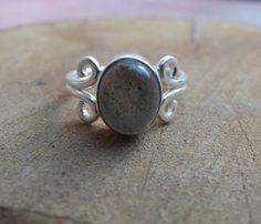 925 sterling silver ring labradorite silver di silveringjewelry