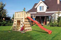 Kinder Spielturm WEKA Mecki Holzspielturm mit Räuberhöhle mit Rutsche - Dieser schöne Kinderspielturm ist ein echtes Unikat