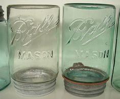 Masons Ball Jar Collection.Rare Upside down jars.