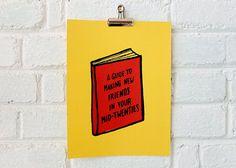 Books I Wish Existed Silkscreen Print by MartaRyczko on Etsy