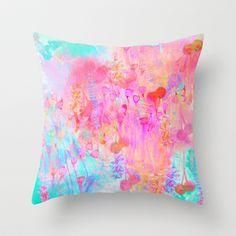 Floral Blush Throw Pillow by Nikkistrange - $20.00