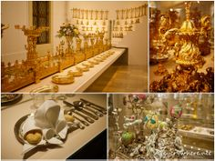 Serving ware and place settings, Sisi Museum, Vienna