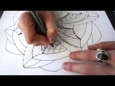 The process of drawing 'Dragon Swirl' mandala on A3 paper - grid, skeleton invention, adding patterns. Video is twice faster than in real life (: Tools used:...