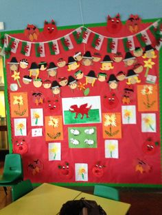 St David's day display Eyfs Activities, Nursery Activities, Classroom Activities, Fun Projects For Kids, Crafts For Kids, Projects To Try, Arts And Crafts, St Dwynwens Day, Saint David's Day
