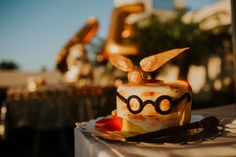 Olivia & Dany | The Engagement | Clearwater Beach, FL Harry Potter cake