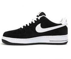 58d10ebbd965d8 Nike Air Force 1 Low Suede Black White 488298 064 Mens Sneakers Mens Nike  Air