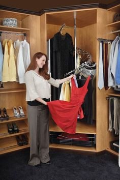 "Rev-A-Shelf SHR-3684 | Break away from the ordinary with Rev-A-Shelf's Spiral Clothes Rack. This perfect corner closet solution has a 360-degree turning radius with an adjustable height of 72-1/2"" to 84"" and the ability to hang 40 single items of clothing (long, medium, and short hanging) from top to bottom. The SHR-84 comes complete with a stabilizer bar, post and pivot hardware, and mounting hardware."