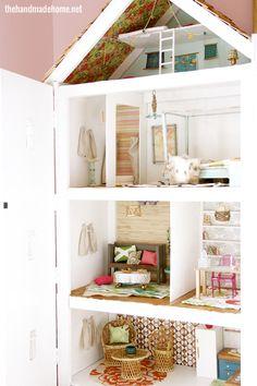 Very creative DIY dollhouse & decor
