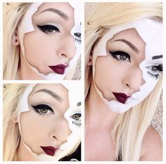 broken doll sci fi character fantasty makeup