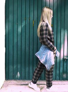 backnforth | Plaid&Denim Punk, Plaid, Passion, Denim, Style, Gingham, Swag, Punk Rock, Outfits