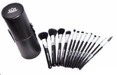Makeup Brush Set with a Handy Case 13 Piece Complete Professional By Bloom Beauty >>> You can get more details by clicking on the image. (Note:Amazon affiliate link)