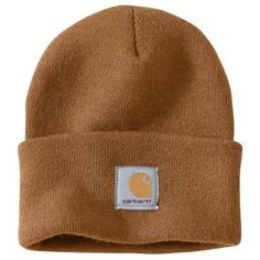 Carhartt Men's OFA Brown Acrylic Hat Headwear, Carhartt Brown Bonnet Carhartt, Beanie Outfit, Bonnet Outfit, Knit Beanie, Rib Knit, Knitted Hats, Nike Air Max, Bling, Tela