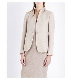 MAX MARA Cricket V-Neck Cashmere And Wool-Blend Jacket. #maxmara #cloth #coats & jackets