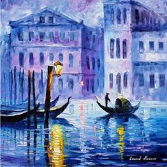 Original Recreation Oil Painting on Canvas This is the best possible quality of recreation made by Leonid Afremov in person  Title: Mystery Of Venice Size: 24 x 24 inches (60 cm x 60 cm) Condition: Excellent Brand new Gallery Estimated Value: $ 4,500 Type: Original Recreation Oil Painting on Canvas by Palette Knife  This is a recreation of a piece which was already sold.  Its not an identical copy, its a recreation of an old subject. This recreation will have texture unique just to this…