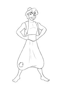 A few of you have requested that I do a tutorial on how to draw Aladdin. Since he is one of my favorite characters from one of my favorite Disney movies, this was a tutorial I couldn't wait to do.