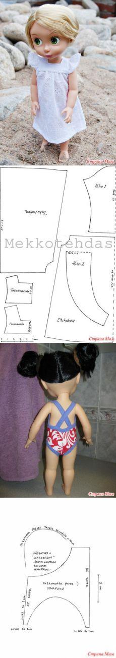 Para las pequeñas princesas de Disney.  Los patrones de ropa y calzado 2 - Armario para la muñeca - casa las mamás