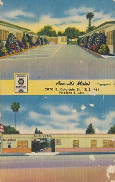 Ace-Hi Motel - Pasadena, California | by The Cardboard America Archives