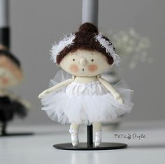 "Textile Ballet Dancer Doll | Кукла-балерина ""Белый Лебедь"" — работа дня на Ярмарке Мастеров"