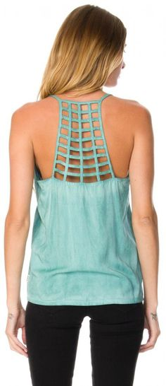 amazing mint cage tank top