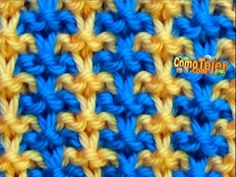 1 CÓMO TEJER EN COLORES – How to Knit with Two Colors – 2 agujas knitting to give you a better service we recommend you to browse the content on our site. Baby Knitting Patterns, Knitting Stitches, Stitch Patterns, Sweater Patterns, Knitting Videos, Crochet Videos, Big Knit Blanket, Jumbo Yarn, Knit Stitches
