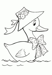 Duck color page, animal coloring pages, color plate, coloring sheet,printable coloring picture is part of Duck drawing - Bird Drawings, Cartoon Drawings, Easy Drawings, Baby Embroidery, Embroidery Patterns Free, Animal Coloring Pages, Coloring Books, Colouring, Fabric Painting