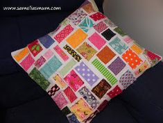 ***Make as a quilt.  I certainly have enopugh scraps.  Make in three or four vertical sections.  Scrappy Jigsaw Cushion