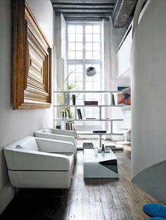 white, frame, windows